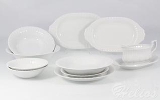 Serwis obiadowy bez wazy dla 12 osób  44 części - c000 iwona biała