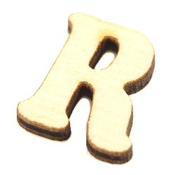 Drewniana literka do rękodzieła - R - R