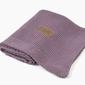 Kocyk tkany z bawełny organicznej - fiołkowy