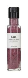 Sól z czerwonym winem i liśćmi laurowymi z młynkiem Nicolas Vahe