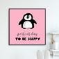 Perfect day to be happy - plakat dla dzieci , wymiary - 80cm x 80cm, kolor ramki - czarny
