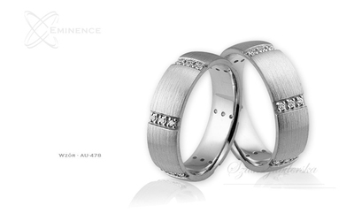 Obrączki ślubne - wzór au-478