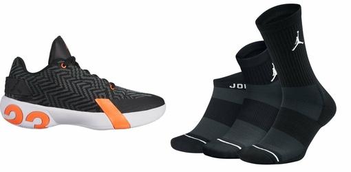 Zestaw buty Air Jordan Ultra.Fly 3 Low - AO6224-008 + skarpety Air Jordan Waterfall 3-Pak - SX6274-010