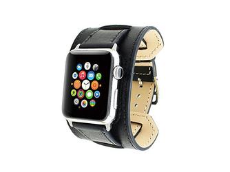 Pasek skórzany Cuffs Mankiet Apple Watch 38mm - Czarny