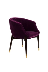 Dutchbone fotel dolly purple fioletowy 1200197