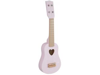RÓŻOWA GITARA drewniany instrument