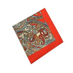 Poszetka męska w kolorze czerwonym