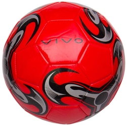 Piłka nożna vivo shine 5 czerwono-czarna