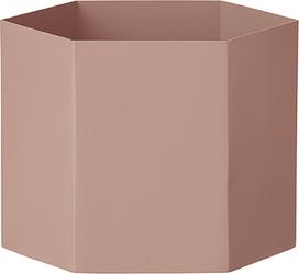 Doniczka Hexagon XL różowa
