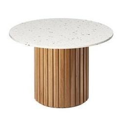 Rge :: stół moon marmur okrągły brązowo-biały śr. 105 cm