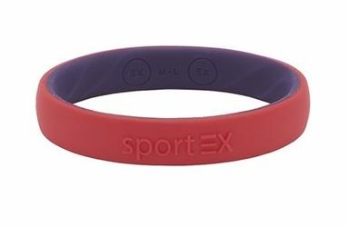 Silikonowa Bransoletka magnetyczna Sport EX 3191-7 dla Sportowców Czerwona
