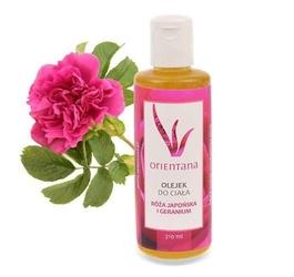 Orientana olejek do ciała róża japońska i geranium 210ml