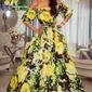 Zwiewna sukienka hiszpanka w żółte kwiaty klara - ida novakowska