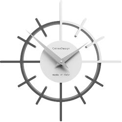 Zegar ścienny crosshair calleadesign pomarańczowy  biały 10-018-63