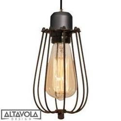 Altavola design :: lampa wisząca kopenhagen loft szaro - brązowa
