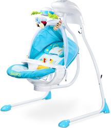Caretero Bugies Niebieska Huśtawka elektryczna dla dziecka + Lampka Led