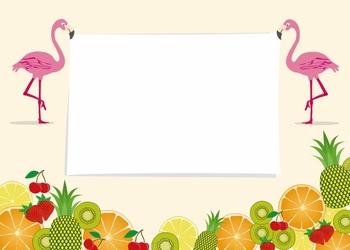 Tablica magnetyczna suchościeralna flamingi 402