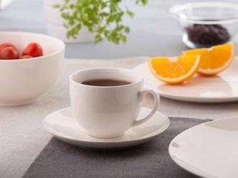 Filiżanka do kawy ze spodkiem porcelana kremowa altom design bella ecru 200 ml
