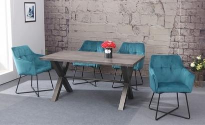 Krzesło sant turkusowe welur