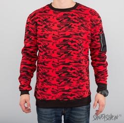 Bluza uc - red camo crewneck