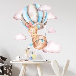 Naklejka na ścianę - sky rabbit , wymiary naklejki - szer. 90cm x wys. 90cm