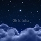 Obraz na płótnie canvas czteroczęściowy tetraptyk przestrzeń lub nocne niebo przez chmury