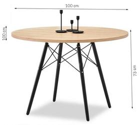 Stół toret 4 okrągły 100x73 cm industrialny