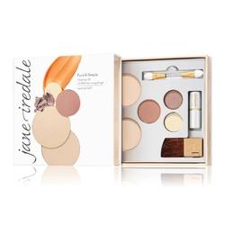 jane iredale pure  simple makeup kit zestaw próbny do makijażu mineralnego 8,4 g medium light