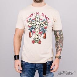 Koszulka amplified guns n roses skull cross