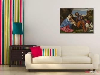 święta rodzina z pasterzem - tycjan ; obraz - reprodukcja