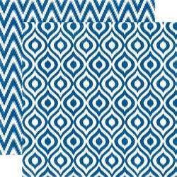 Papier 30,5x30,5 cm Style EssentialSapphire ikat - 07