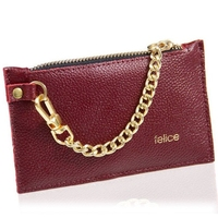 Skórzany portfel damski felice p07 burgundowy - burgundowy