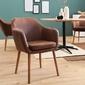 Krzesło z podłokietnikami cheryl brązowe vintage