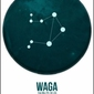 Znak zodiaku, waga - plakat
