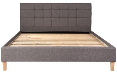 Łóżko tapicerowane ravio 160x200 ze stelażem szare