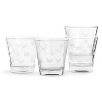 Sagaform - kitchen - szklanki butterfly 4 szt., białe - 0,20 l