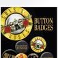 Guns n roses lyrics and logo - zestaw 6 przypinek