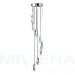 Sculptured Ice lampa wisząca 8 chrom