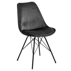 Krzesło eris vic szare - czarny