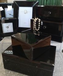 Duo szkatułka z szufladami black mat
