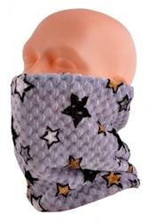 Wielofunkcyjny komin dzieciecy - czapka - szalik - chusta - kominiarka - 22 szary