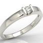 Pierścionek zaręczynowy z białego złota z brylantem jp-9806b