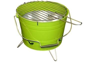 Grill wiaderko zielony  grill przenośny  grill tarasowy