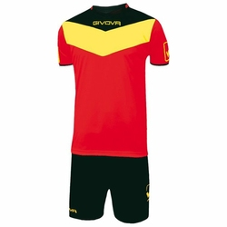 GIVOVA Komplet Piłkarski CAMPO KITC53-1207 - Żółty || Czarny || Czerwony
