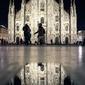 Mediolan, katedra - plakat premium wymiar do wyboru: 50x70 cm