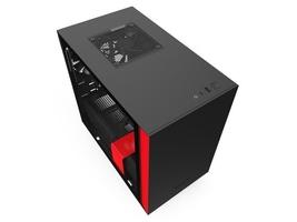 Nzxt obudowa h210i z oknem, czarno-czerwona
