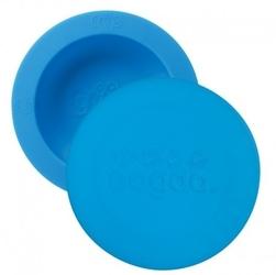 Oogaa blue bowl  lid silikonowa miseczka z pokrywką