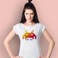 Game k3 t-shirt damski biały xs