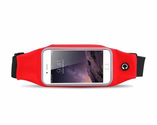 Etui saszetka nerka na telefon do biegania 5.5 cala czerwona - Czerwony