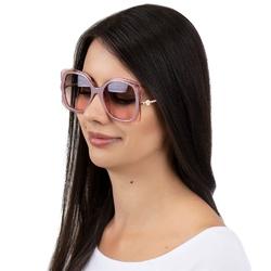 Okulary przeciwsłoneczne damskie kwadratowe różowe